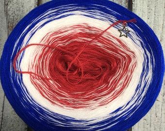 Americana Gradient Yarn Cake