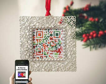 Customized gift for graduation with personalized message, interactive QR code birthday gift  for her, holiday gift for friend