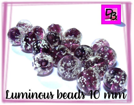 10 perles luminous 10 mm