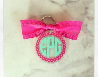 Personalized Acrylic Key Chain {Double Sided Design}