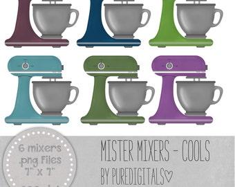 Electric Mixer Clipart, Mixer Clip Art, Kitchen Clip Art, Digital Kitchen, Kitchen PNG, Mixer PNG, Baking Clip Art, Baking Scrapbook