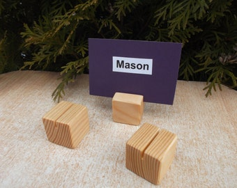 100 Place card holders, Wood place card holders, Unfinished stands, Table number holders, Wedding decor, Wedding, Photo props, Holders