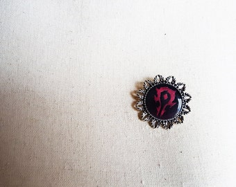 World of Warcraft (WoW) - Horde Faction Crest  Cameo Pin Brooch-Nerdy Valentine or Gamer Girl gift idea-Horde Pin-Horde Brooch-For the Horde