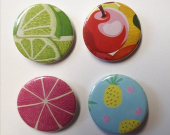 Fruit Pin Badges