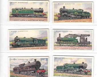 Complete Set of 50x Original Cigarette / Tobacco Cards - 'RAILWAY ENGINES' - by Wills c1924