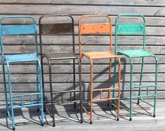 Bar style metal Chair industrial/bar stool-industrial Design