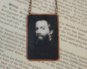 Melville necklace Herman Melville mixed media jewelry literature literary