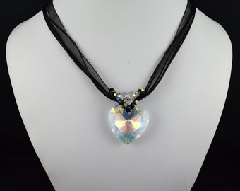 Necklace with Swarovski Crystal heart pendant