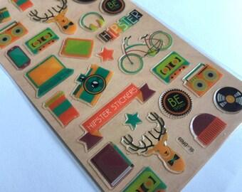 Sticker set camera retro (A1080)