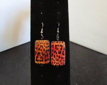 Lepard Colored Earrings