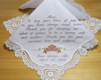 Embroidery Mother of the Bride Wedding Handkerchief Custom Gift Personalized (1821912)
