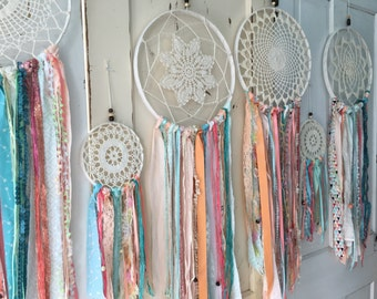 "Dream Catcher in Gypsy Tribal style.  Dreamcatcher for Room Decor, Wedding, Shower.  CUSTOM colors TOO 12"" handmade dream catcher Decoration"