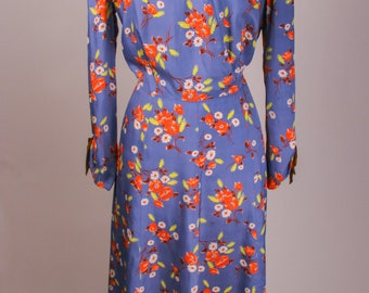 1940's cold rayon Volup dress