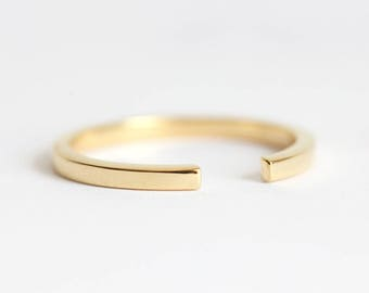 Wedding Ring, 14k Gold Ring, Stacking Ring, Midi Ring, Knuckle Ring, Plain Gold Ring, Simple RIng, 18k Gold Ring, Open Ring, Wedding Band