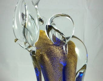 Fantastic Murano Sommerso Glass Elephant, Zane Vittorino, Signed