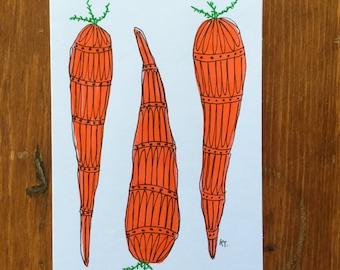 Veggie card- Carrots