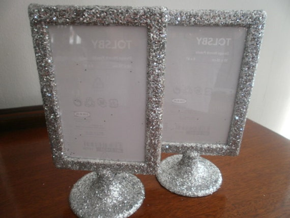 Table number glitter frames. Double sided so you can display