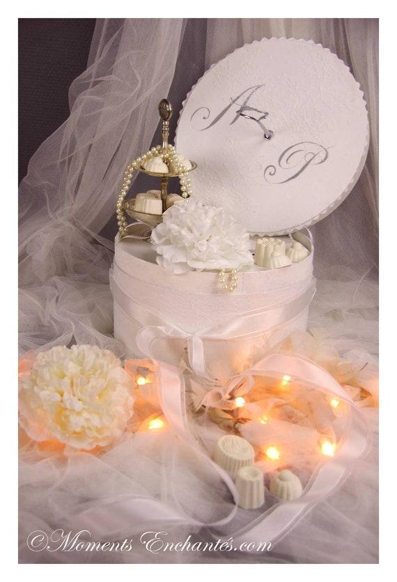 Mariage Urne mariage dentelle