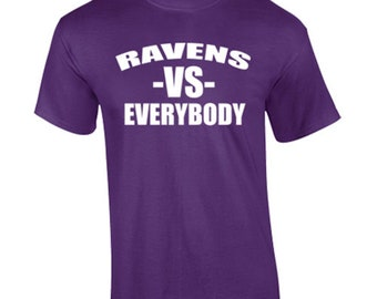 T-Shirt Baltimore Ravens Football Sports Custom Shirt & Ink Color