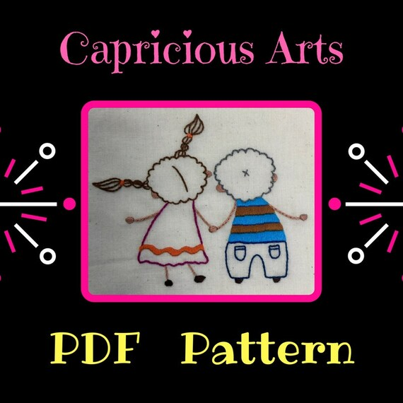 You and Me PDF Pattern, Download, Love, Patterns, Embroidery, Hand Embroidery, Thread Art, Embroidery Hoop, Wall Art