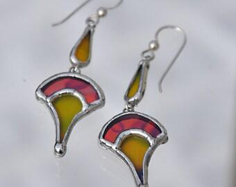 Jester Glass Earrings