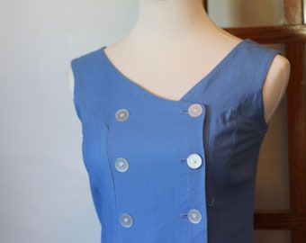 Vintage 1950s Coquette Wiggle Tank Dress