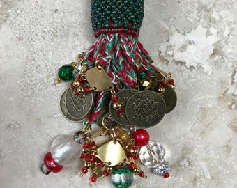 Beaded Ornament Tassel - Scrooge NOT!