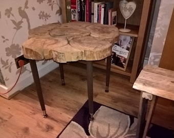 coffee table bespoke log slices only one in the world