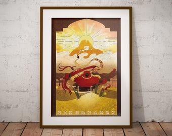 Journey - Art Print - Poster - Journey the Game Fanart - Journey Artwork - Gamer Gift - Video Game Decor - Video Game Wall Art