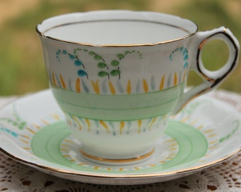 ROYAL STAFFORD Bone China Teacup and Saucer Set