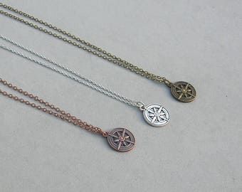 Compass Necklace- 3 finishes