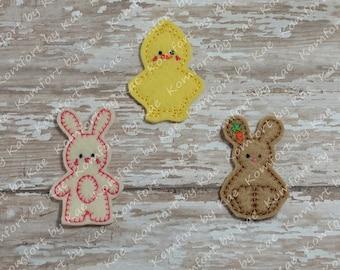 Stitched Bunny & Friends Felties- (set of 4) UN-CUT