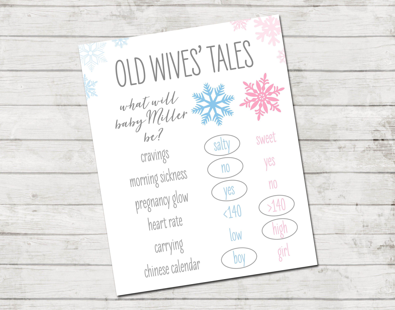 Gender Reveal Old Wives Tales Gender Reveal Printable