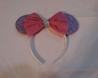 Extra Glittery Pink Mouse Ears