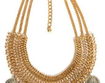 Black Magic Woman  Gypsy Coin Necklace