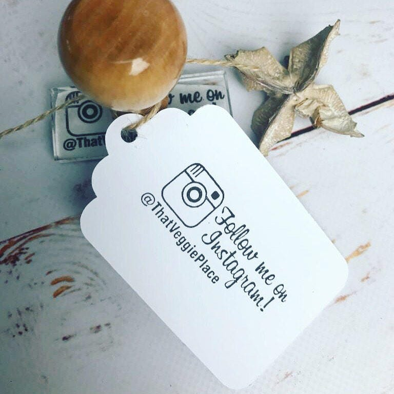 INSTAGRAM STAMP , personalised, social media, Follow Me on Instagram ...