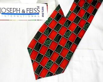 Christmas party tie - Christmas suit necktie - Holiday tie - Victorian Christmas tie - Red Christmas tie - Tree necktie -   # T 4