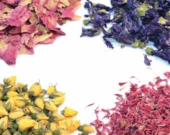 36+ Types Of Flowers & Petals - 5g - 50g, Edible Petals, Edible Flowers, Dried Flowers, Dried Petals, Infusion, Tincture, Craft, Tea, Edible
