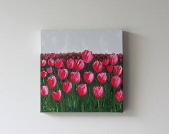 12x12 Original Floral Painting