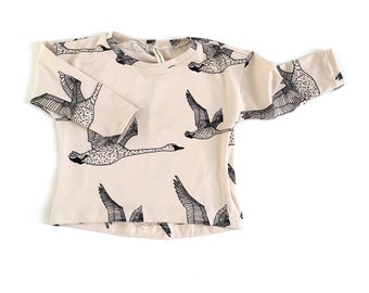 baby t-shirt 12-18m, organic baby t-shirt, organic baby clothes, gender neutral baby top, long sleeve t-shirt rust