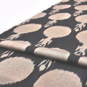 Black Ikat Fabric, Handloom Ikat Fabric, Handwoven Ikat Fabric, Clothing  Fabric, Sewing