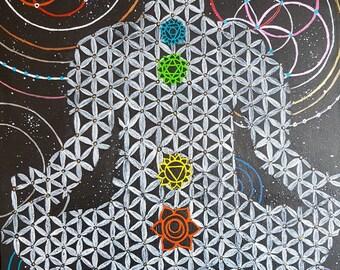 Healing Through Geometry - Original Spiritual Canvas Painting