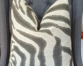 25% Off, Price as Marked, Zebra Print Pillow, Pillow Cover, Decorative Pillow, Throw Pillow, Toss Pillow, Sofa Pillow, Made in USA