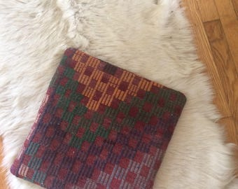 vintage Turkish pillow cover, purple and yellow, bohemian style