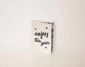 Personalized notebook with paper decorations