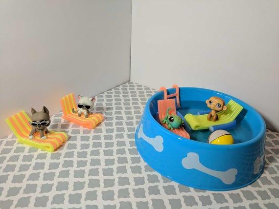 Littlest pet shop custom swimming pool accessories for lps - Swimming pool accessories for dogs ...