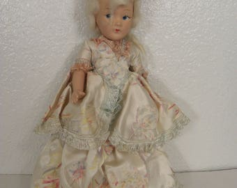 """Vintage Doll Articulated Ceramic or Clay, Fully Dress Collectibles 11"""""""