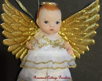 "Porcelain Doll 4"" Christmas Ornament"
