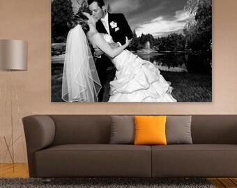 Wedding photo upload canvas