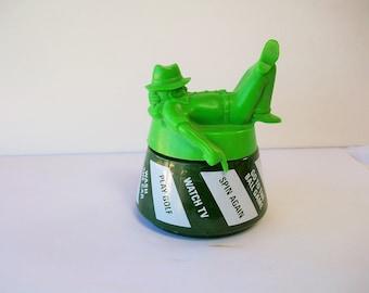 Avon bouteille en verre 1978-1979 - week-end décideur - vert